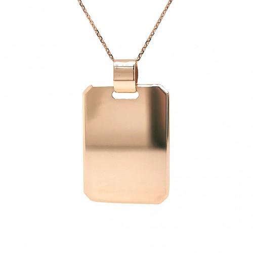 Auksinis pakabukas-plokštelė
