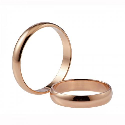 """Auksinis vestuvinis žiedas """"Klasikinis"""" 4 mm pločio"""