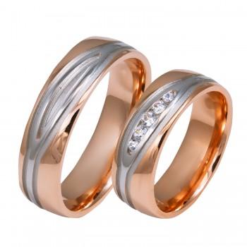 Auksinis vestuvinis žiedas be ir su cirkoniu