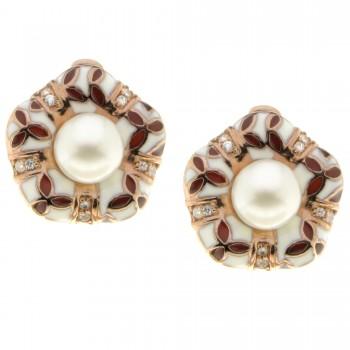 Sidabrinisi auskarai su perlais