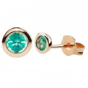 """Auksiniai auskarai su smaragdais """"Klasikiniai"""""""