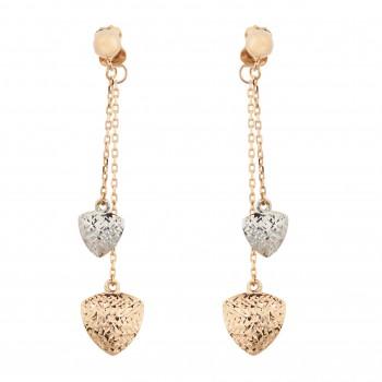 """Auksiniai auskarai """"Širdelės"""""""