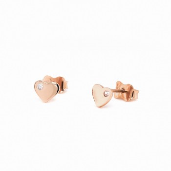 """Auksiniai auskarai su cirkoniu """"Širdelės"""""""