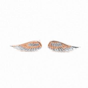 """Auksiniai auskarai  """"Angelo sparnas"""""""