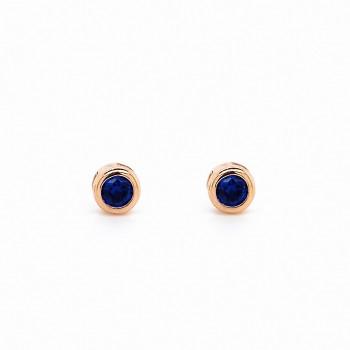 Auksiniai auskarai su cirkoniu 4 mm