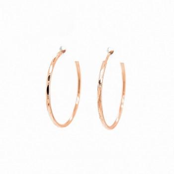 Auksiniai auskarai graviruoti  lankeliai 27 mm
