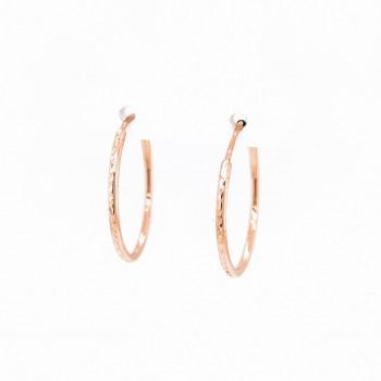 Auksiniai auskarai graviruoti  lankeliai 23 mm