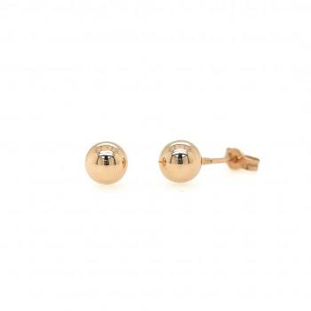 "Auksiniai auskarai ""Burbuliukai"" 7 mm"