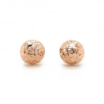 Auksiniai graviruoti auskarai puse burbulo 8 mm