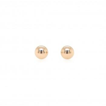 Auksiniai auskarai puse burbulo 6 mm