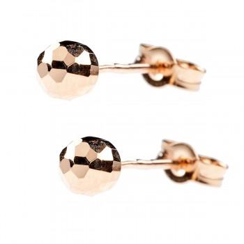 Auksiniai auskarai burbuliukai medus 5 mm