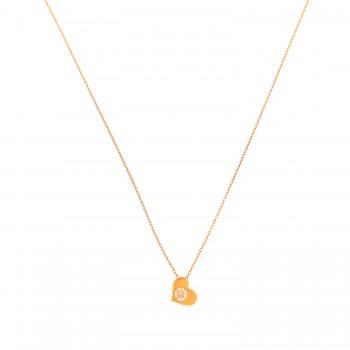 Auksinė grandinėlė su pakabuku širdele