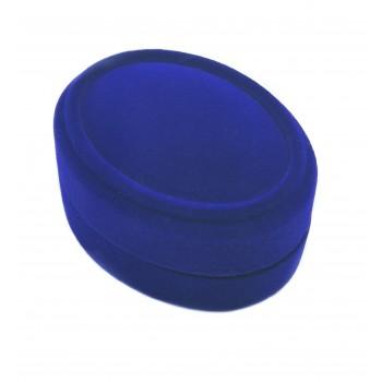 Mėlyna aksominė dėžutė