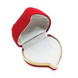 """Raudona aksominė dėžutė """"Širdelė"""""""