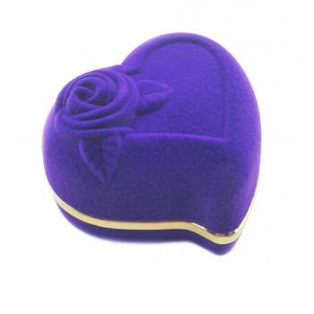 """Violetinė aksominė dėžutė """"Širdelė"""""""
