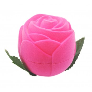 """Rožinė aksominė dėžutė """"Rožė"""""""