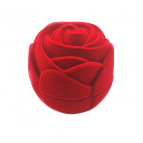 """Raudona aksominė dėžutė """"Rožė"""""""
