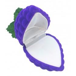 """Violetinė aksominė dėžutė """"Vynuogė"""""""