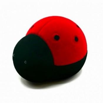 """Raudona su juoda aksominė dėžutė """"Boružė"""""""