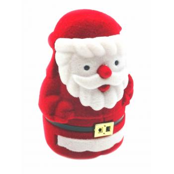 """Raudona aksominė dėžutė """"Kalėdų senelis"""""""