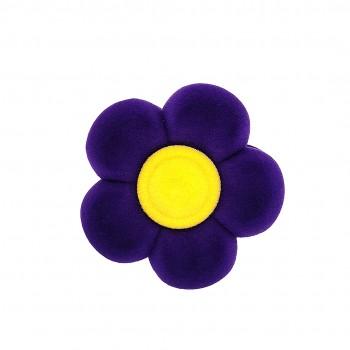 """Violetinė aksominė dėžutė """"Gėlytė"""""""