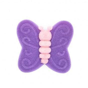 """Violetinė aksominė dėžutė """"Drugelis"""""""