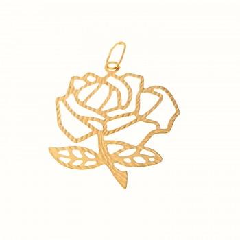"""Auksinis pakabukas """"Rožė"""""""