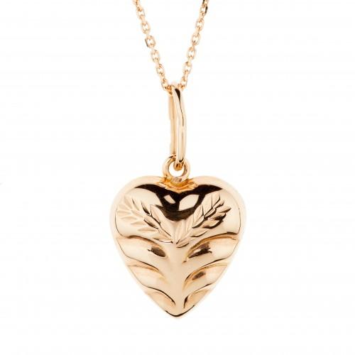 """Graviruotas auksinis pakabukas """"Širdis"""""""