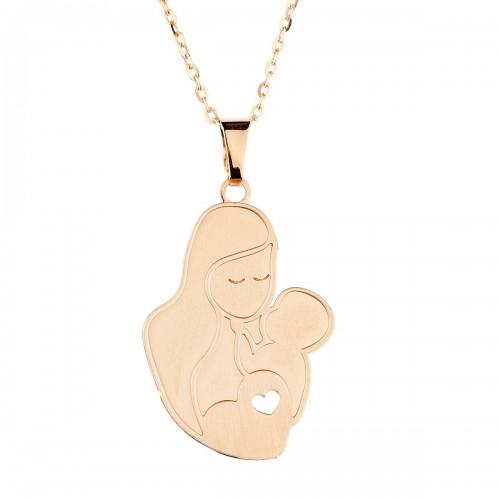 """Auksinis pakabukas """"Mama ir kūdikis"""""""