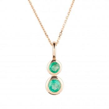 Auksinis pakabukas su smaragdais