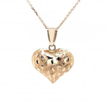 """Auksinis graviruotas pakabukas """"Širdelė"""""""
