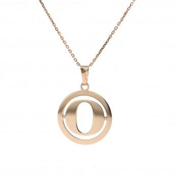 Auksinis pakabukas - raidė O