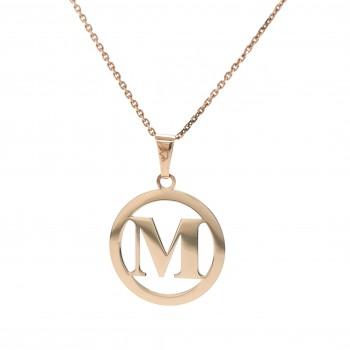 Auksinis pakabukas - raidė M