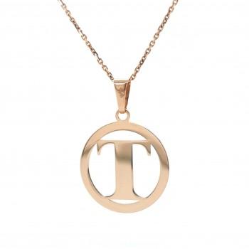 Auksinis pakabukas - raidė T