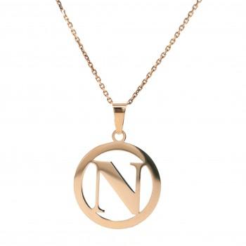Auksinis pakabukas - raidė N