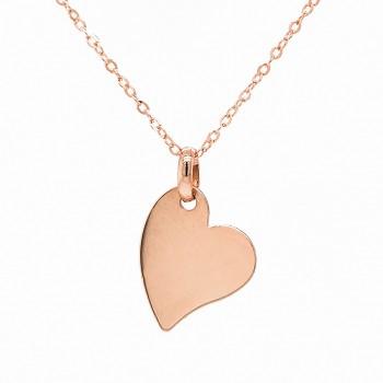 """Auksinis pakabukas - plokštelė """"Širdelė"""""""