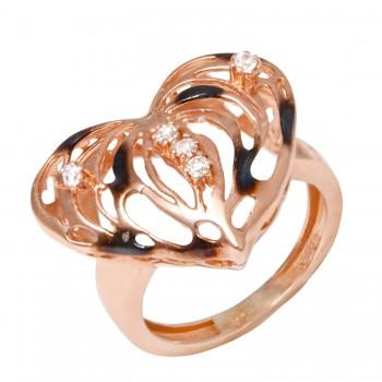 """Sidabrinis žiedas su cirkoniu """"Širdis"""""""