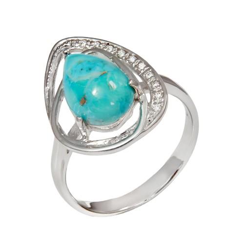 Sidabrinis žiedas su turkiu
