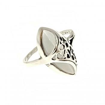 Sidabrinis žiedas su katės akimi