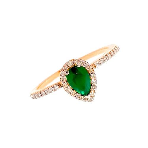 Auksinis žiedas su cirkoniu ir agatu