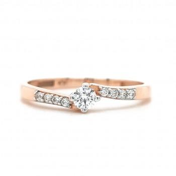 Auksinis žiedas su cirkoniu