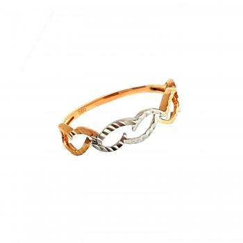 Graviruotas auksinis žiedas