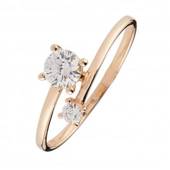 Auksinis žiedas su cirkonis