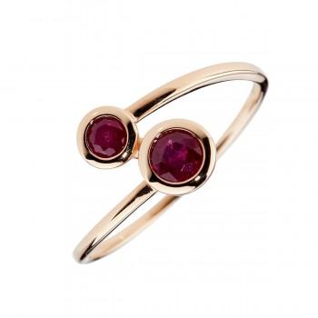 Auksinis žiedas su rubinais