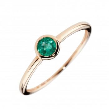 Auksinis žiedas su smaragdu