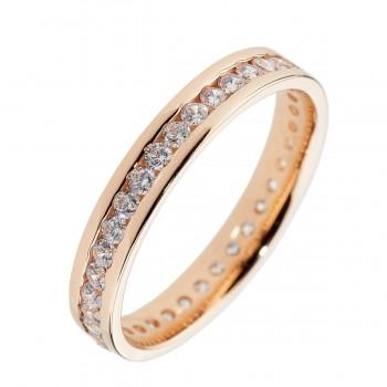 Auksinis žiedas su cirkoniu 2,5 mm