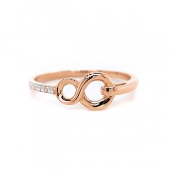 Auksinis žiedas su begalybe