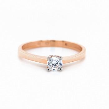 """Auksinis žiedas su cirkoniu """"Klasika"""""""