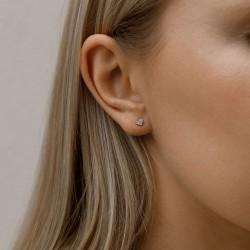 Auksiniai auskarai su briliantais