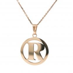Auksinis pakabukas - raidė R